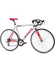 "28"" KCP ROAD RACING BIKE RUN 1.0 ALLOY 14 speed SHIMANO white red 56cm - (28 inch)"