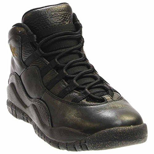 Nike Jungen Black-DRK Grey-Mtllc GLD Basketballschuhe Schwarz Grau, 37.5 EU (Jungen Retro Jordans)