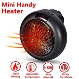 Portable Heater Mini Heizung - Tragbare und Leistungsstarke Heizlüfter mit Thermokeramik für die Steckdose, Original Produkt aus TV-Werbung (Schwarz)