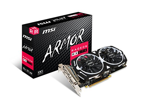 MSI RX 570 ARMOR 8G OC Gaming 256-Bit 8gb Gdrr5 Directx Graphics Card