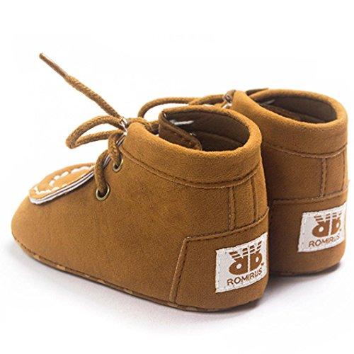 Ouneed® Bebe Garcon Lacet Casual Premier pas Chaussures Kaki