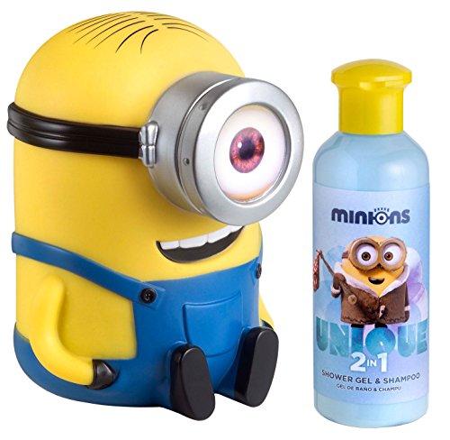 Air Val Minions Ich Einfach unverbesserlich Geschenkset, 1er Pack (Stuart Spardose mit 2-in-1 Duschgel und Shampoo)