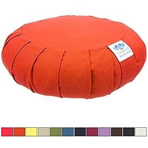 Coussin de méditation zafu CalmingBreath - Coton, sarrasin rempli - Superbes couleurs !