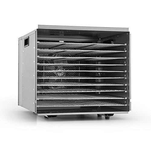 Klarstein fruit jerky pro 10 • apparecchio disidratatore • essiccatore • 1000 watt • 10 piani • rimovibili singolarmente • temperatura regolabile • 1,5 m² superficie secca • timer • argento