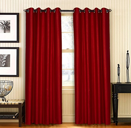 Home Candy Elegant 2 Piece Polyester Black Out Door Curtain - 84