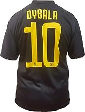 T-Shirt Fußball Paulo Dybala 10 Juventus Drittes Trikot SCHWARZ Saison 2018-2019 Replica OFFIZIELLE mit Lizenz - Alle Größen Kinder und Erwachsene