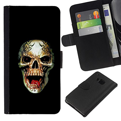 zcell-htc-one-m7-rogue-metal-heavy-rock-black-skull-wallet-cuir-pu-coverture-shell-armure-coque-coq-