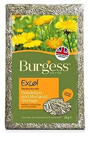 Burgess Excel Dandelion and Marigold Herbage 1 kg- (pack of 3)