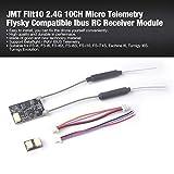 Lorenlli Fit JMT Flit10 2,4G 10CH Micro-Telemetrie Flysky-kompatibler Ibus-RC-Empfänger für FS-I6X FS-i6S Turnigy Evolution RC FPV-Drohne