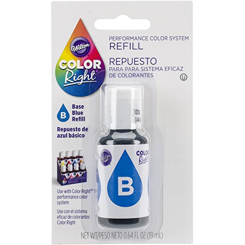 Wilton Farbe rechts Performance Farbe System Refill .7oz-blue, andere, mehrfarbig (Marketing-system)