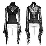 Gothic Spider Web Fabric High Collar Sexy Bra Ladies T-shirts