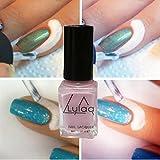 Esmalte de uñas, FEITONG Espejo Esmalte de Uñas Cola de Plata Metal Color Acero Inoxidable 6 colores(Rosa)