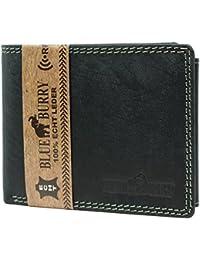 462dd5eac9827 RFID-Schutz Herren Portemonnaie Geldbörse aus Leder mit RFID-Blocker  Brieftasche mit Box Blue…
