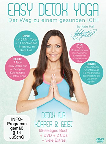 Easy Detox Yoga (+ CD) (+ Hörbuch) (inkl. Einkaufshelfer in Kreditkartengröße & Kochbuch) [3 DVDs]