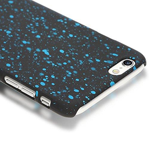iPhone 6 6S Hülle Sternenhimmel Handyhülle von NICA, Dünnes 3D Case Cover Glitzer Schutzhülle Handy-Tasche, Ultra-Slim Liquid Silikon Hardcase Bumper Backcover für Apple iPhone 6S 6, Farbe:Pink Hellblau