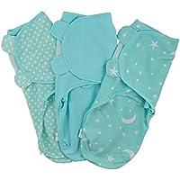 Juicy Bumbles Manta Envolvente para Bebé y Recien Nacido – 3x Saco de Dormir Manta de Arrullo Cobija 100% Algodón