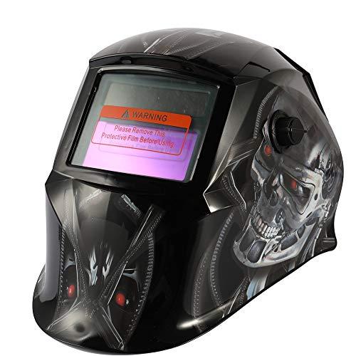 Docooler Automatische Schweißmaske Solarenergie Variable Lichtschweißmaske WIG-Punktschweißhelm mit verstellbarem Kopfbügelknopf