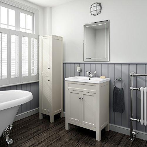 traditional ivory basin vanity cabinet tall bathroom furniture sink