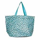 LS Design XL Öko Jumbo Shopper Einkaufstasche Recycled Strandtasche Schultertasche Blau 60x20x37cm