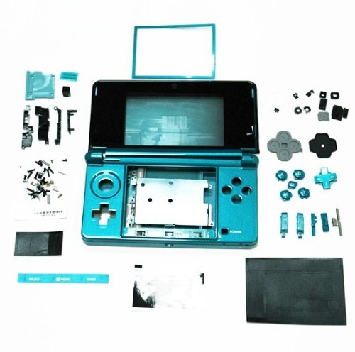 nintendo-3ds-aqua-blue-console-full-replacement-housing-shell-3ds-shell-case-replacement
