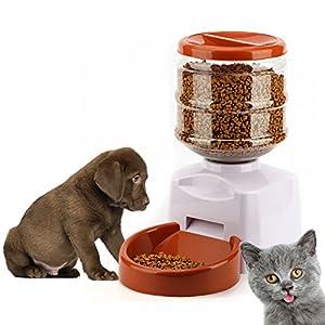 Tera Distributeur automatique programmable de nourriture 5,5L avec enregistrement vocal pour chien, chat (1-3 repas par jour)