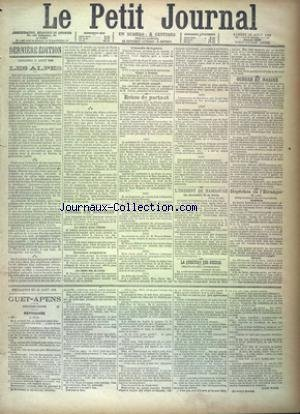 PETIT JOURNAL (LE) [No 9367] du 18/08/1888