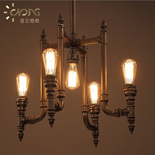 YFF&ILU Aria Industriale tubi ferro da stiro Sala di studio bedroomcafe bar lampade retrò