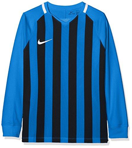 Nike Kinder Striped Division III Langarm Trikot, Mehrfarbig (Royal Blue/Black/White), S