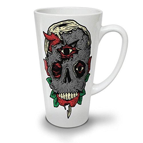 Monster Satan Tot Horror WeißTee KaffeKeramik Kaffeebecher 17   Wellcoda
