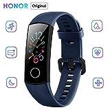"Honor Band 5 Reloj Inteligente 0.95 ""AMOLED Pantalla a color 50M Monitor de ritmo cardíaco a prueba de agua Pulseras para diferentes modos de deporte (Azul)"