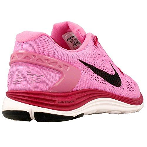 Nike, Wmns Nike Lunarglide+ 5, Scarpe sportive, Donna Pink