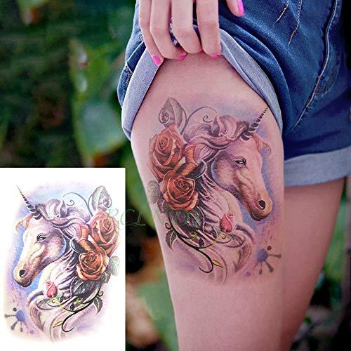 tzxdbh 5pcs Wasserdicht Tattoo-Aufkleber Goldfisch Koi Lotus Flower Wave Tattoo Tattoo Männer Zurück Rüstung Tätowieren 5Pcs- - Körper Post-rüstung