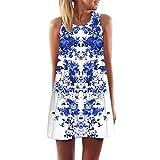Elegante Kleider Luckycat Frauen Lose Sommer Weinlese Blumendruck Kurzschluss 3D Bild Minikleid Gerades Kleid mit Schmetterlinge Muster Mode 2018