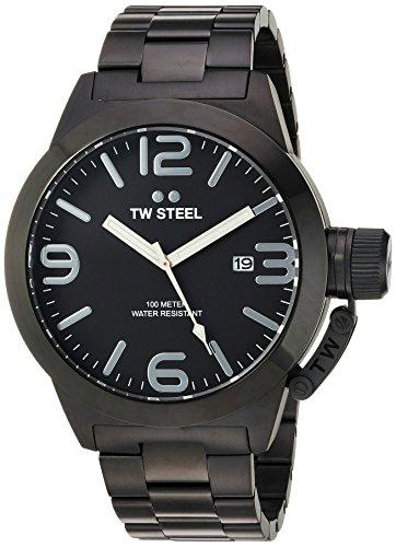 TW Steel Reloj Analogico para Hombre de Cuarzo con Correa en Chapado en Acero Inoxidable CB212