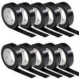 10 Rollen VDE Isolierband Isoband Elektriker Klebeband PVC 15mm x 10m DIN EN 60454-3-1 Farbe: schwarz