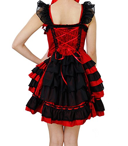 Nuoqi®Femmes douce sans manches Lolita Palais princesse dentelle robe kawaii Halloween maid cosplay costume wsj221we