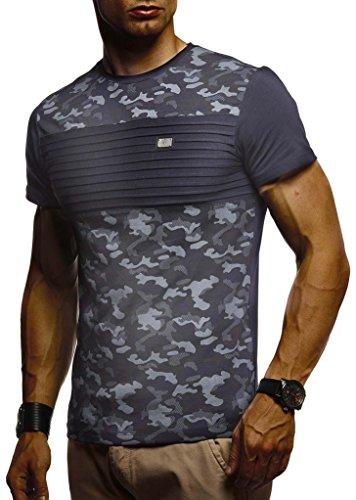 bd8e6bc436f3 LEIF NELSON Herren T-Shirt Rundhals Ausschnit Sweatshirt Longsleeve Basic  Shirt Hoodie Slim Fit LN405