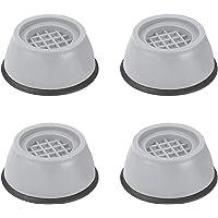 VIBRAT Washer Dryer Anti Vibration Pads with Suction Cup Feet, Fridge Washing Machine Leveling Feet Anti Walk Pads Shock…