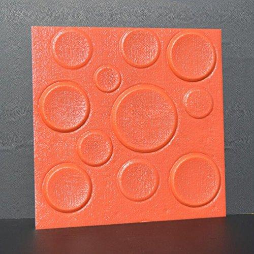 DWCC 3D Tapete Selbstklebende Wandaufkleber Verdicken DIY Wandbild Kunst Handwerk TV Hintergrund Wohnzimmer Schlafzimmer Geschenke Dekoration Aufkleber,Red,30*30