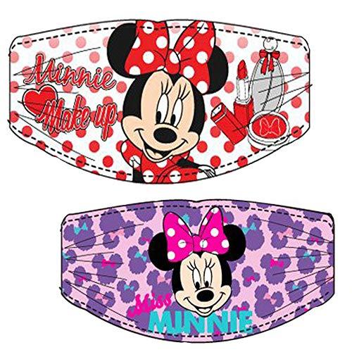 Haarband für Mädchen mit zweiteiligem Set und Minnie-Aufdruck mit Disney-Lizenz. Das Set enthält 2 Bänder wie auf dem Bild, eines nach Typ.