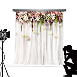 KateHome PHOTOSTUDIOS Kate Flower Wandbild Foto Hintergrund f¨¹r Fotografie Mikrofaser nahtlos wei? Hintergrund Vorhang Studio fototermin f¨¹r Hochzeit 5 x 7ft /1,5 x 2.2 m
