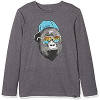Quiksilver LS ClassicYouth Kong Business - Camiseta de Manga Larga para niño, Color Gris, Talla XL