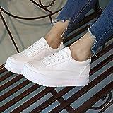 Chaussures HAIZHEN Dames Filles Bottillons sport pour femme Comfort Spring Fall marche Plateforme décontractée en dentelle extérieure pour les 18-40 ans Pour les 18-40 ans