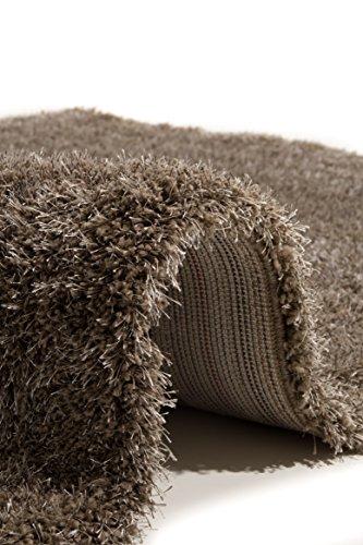 detailed look 504de 62205 Flora Carpets Shaggy Luxury Malibu Alfombra de salón, poliéster, marrón  Claro, 110