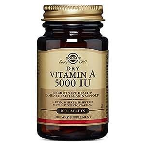 Solgar Dry Vitamin A with Vitamin C 100 Tablets