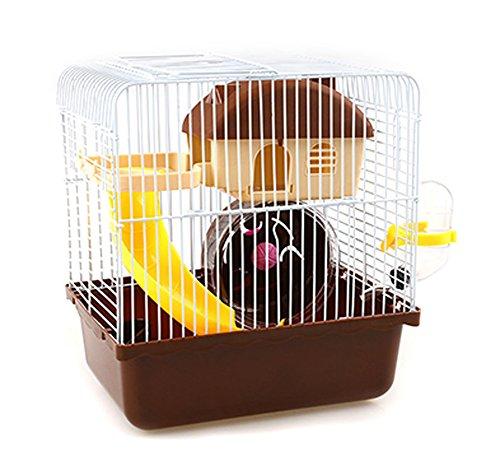 Vakuum-rad (JIANGU Hamsterkäfig, für Hamster-Käfig, mit Super-Villa, Vakuum-Wasserkocher, klein, Folie, Food-Schale, Still-Rad)