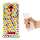 WoowCase Doogee X3 Hülle, Handyhülle Silikon für [ Doogee X3 ] Würfeln Handytasche Handy Cover Case Schutzhülle Flexible TPU - Transparent