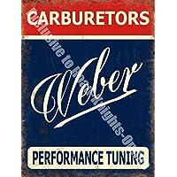 Weber carburatori. prestazioni. REGNO UNITO Firmare scrittura, rosso, blu e