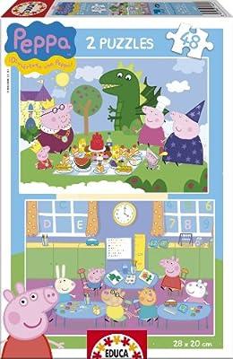 Educa-Borrás 15625 - Peppa Pig puzzle (2x48 piezas) de Educa-Borrás