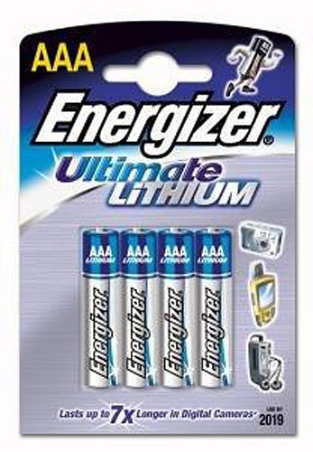 Energizer Lithium Aa-batterien (Energizer Ultimate Lithium-Batterie AAA Micro 1,5 Volt im 4er-Pack)